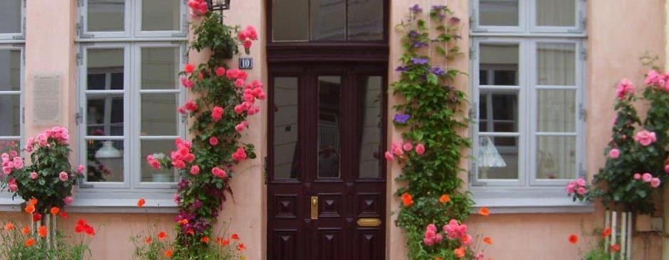Eingang Rosen Ferienwohnung Schleswig